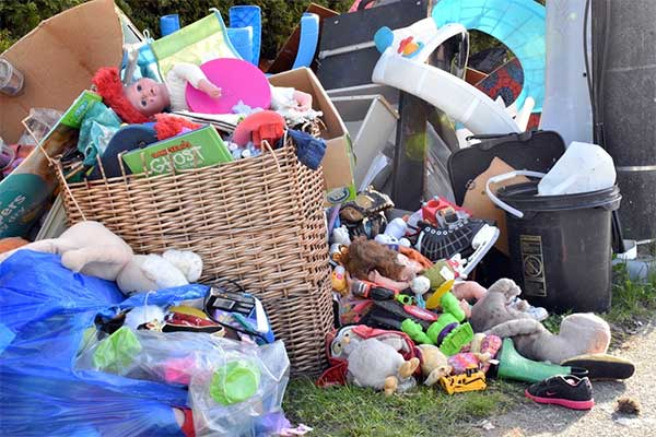Toys, clothes, furniture and more were left for the trash man during Delta's 2018 Spring Clean up. (James Smith photo)