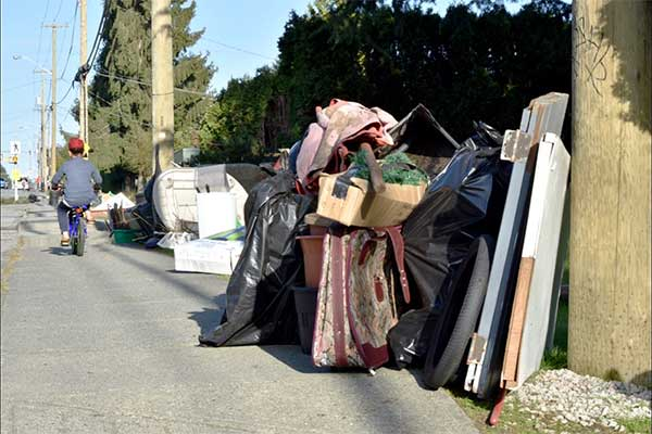 Some sidewalks were crowded with a year's worth of unwanted items during Delta's 2018 Spring Clean up. (James Smith photo)