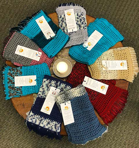 Crocheted and knitted Prayer Shawls