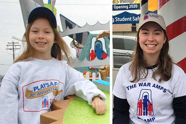 Aimee Brennan PLAYSAFE ambassador with the War Amps